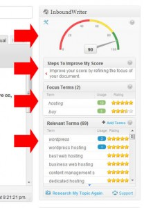 InboundWriter dashboard widget