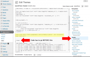 how to use google webfonts - edit header php
