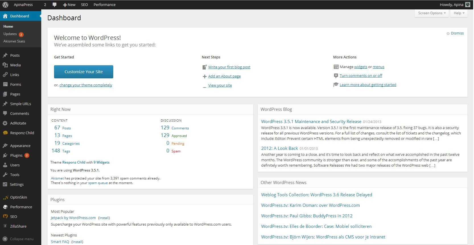 new_wordpress_dashboard_look