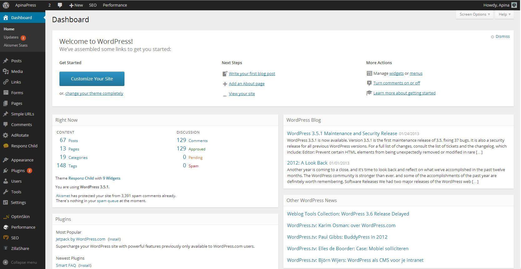 new_wordpress_dashboard_look