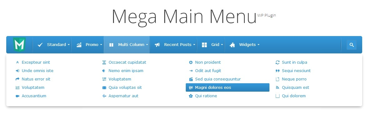 WordPress Menu Plugins -  Mega Main Menu