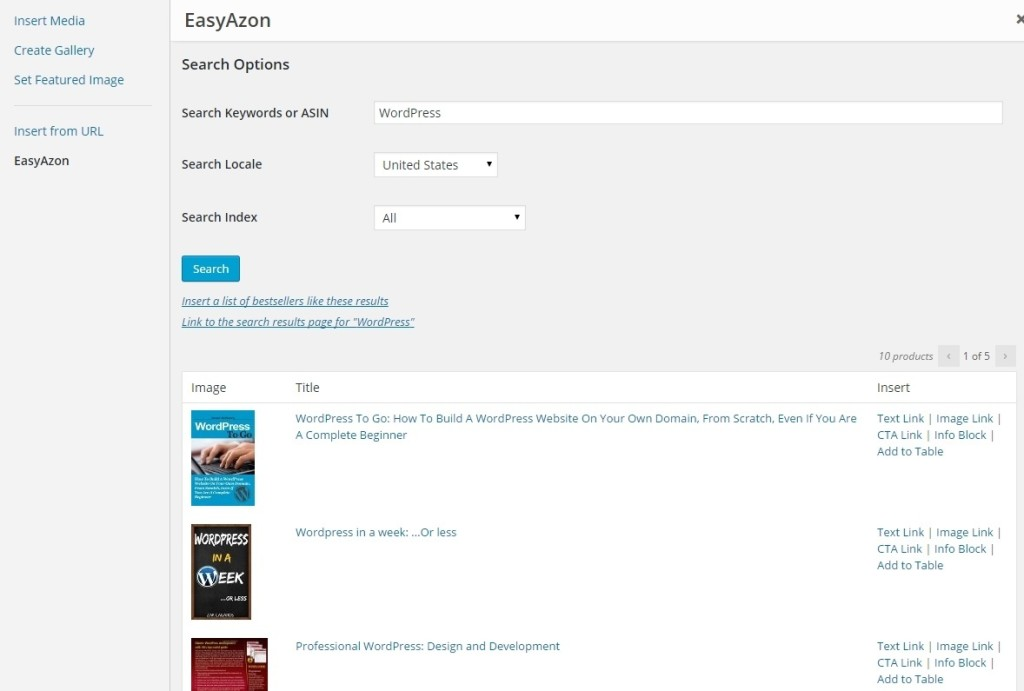 Easy Azon add amazon link