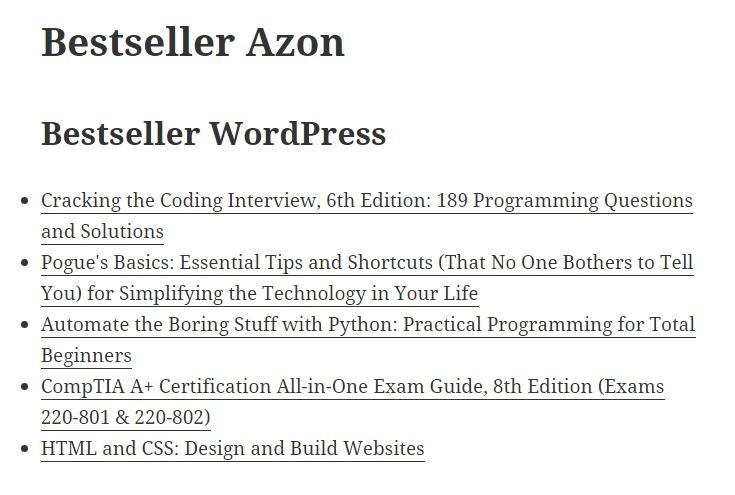 Easy Azon bestseller azon