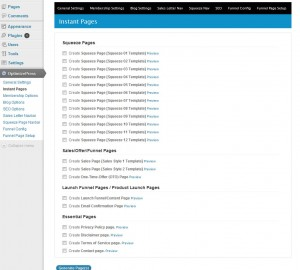 optimizepress instant pages
