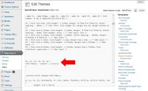 how to use google webfonts - edit stylesheet