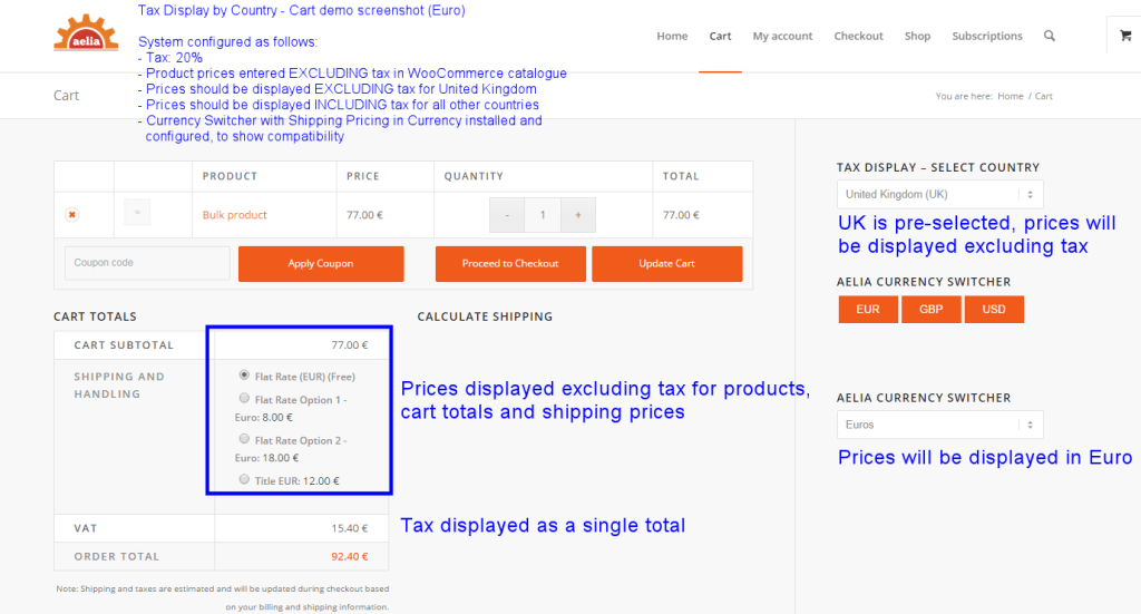 Tax Display by Country fro Woocommerce