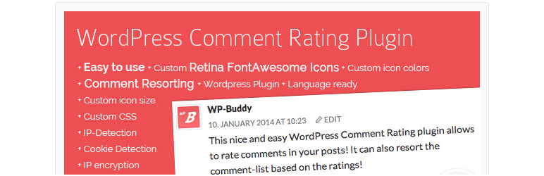 wordpress comment rating